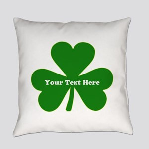 Shamrock Name Personalized Everyday Pillow