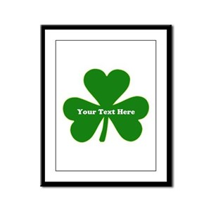 Shamrock Name Personalized Framed Panel Print