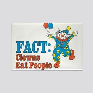clowns eat people Rectangle Magnet