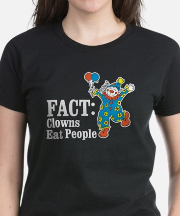 clowns eat people Women's Dark T-Shirt