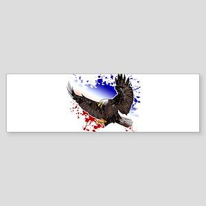 Bald Eagle - Red, White & Blue Bumper Sticker