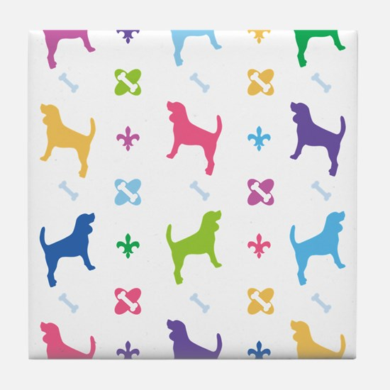 Beagle Designer Tile Coaster