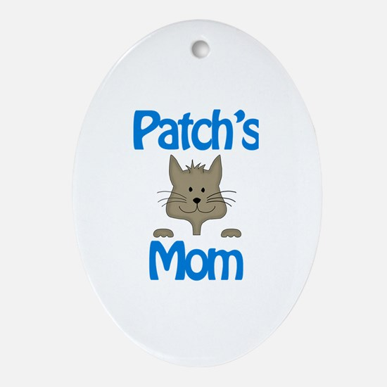 Patch's Mom Oval Ornament