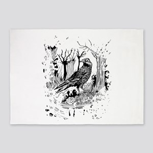 The Black Crow 5'x7'Area Rug