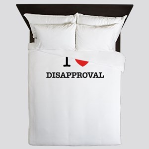 I Love DISAPPROVAL Queen Duvet