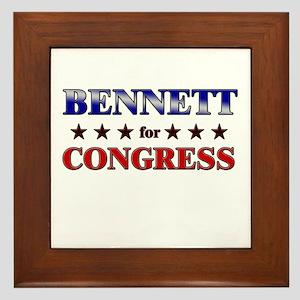 BENNETT for congress Framed Tile