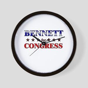 BENNETT for congress Wall Clock