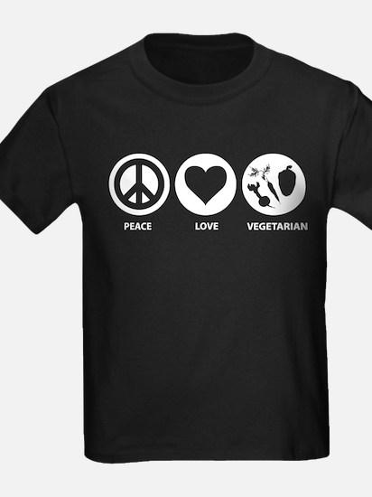 Peace Love Vegetarian T