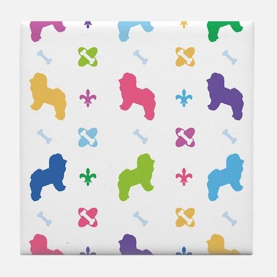 Bichon Frise Designer Tile Coaster