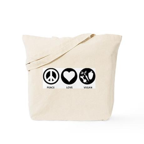Peace Love Vegan Tote Bag
