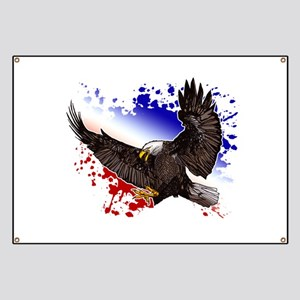 Bald Eagle - Red, White & Blue Banner