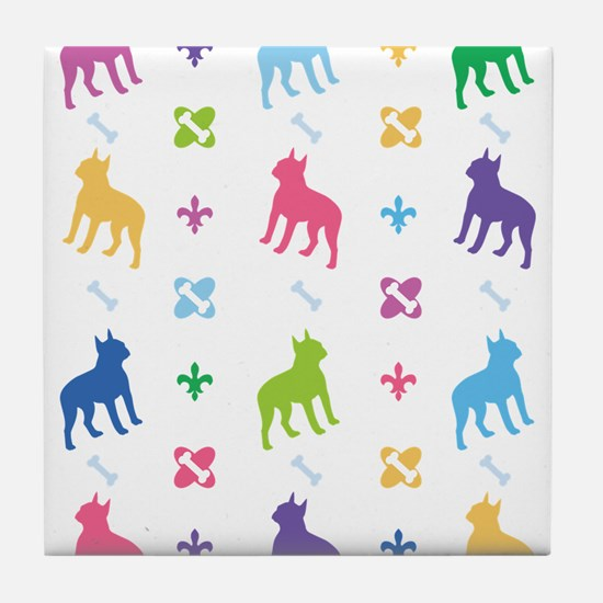 Boston Terrier Designer Tile Coaster