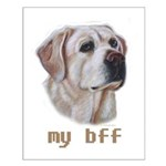 MY BFF Yellow Lab Small Poster