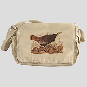 Wild Turkey Hen with Chicks Audubon Bookplate Mess