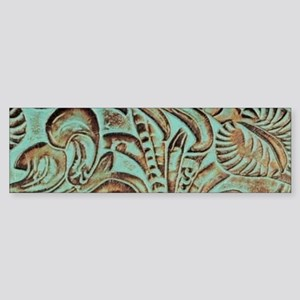 Turquoise country western leather Bumper Sticker