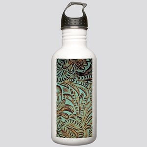 Western country Turquo Stainless Water Bottle 1.0L