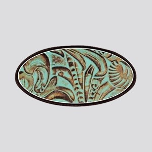 Western country Turquoise leather Patch