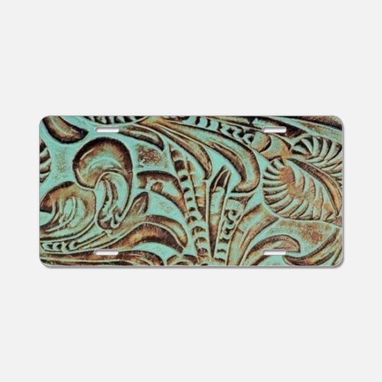 Western country Turquoise l Aluminum License Plate