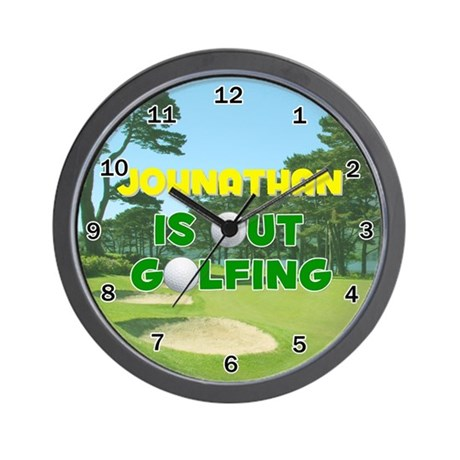 Johnathan is Out Golfing - Wall Clock