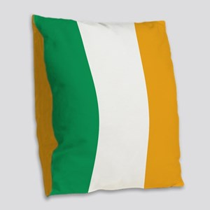 Irish Tricolour Square - flag of Ireland Burlap Th