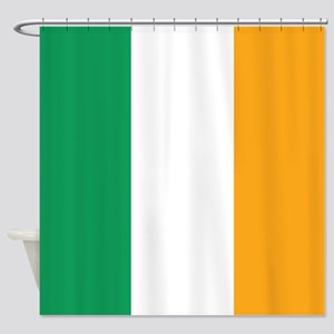 Irish Tricolour Square - flag of Ireland Shower Cu