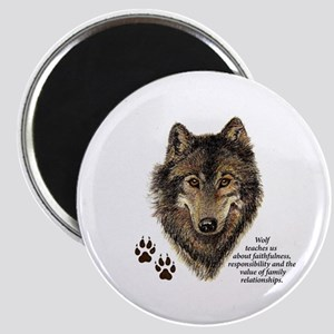 Wolf Totem Animal Guide Watercolor Nature Magnets