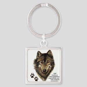 Wolf Totem Animal Guide Watercolor Natur Keychains