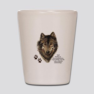 Wolf Totem Animal Guide Watercolor Natu Shot Glass