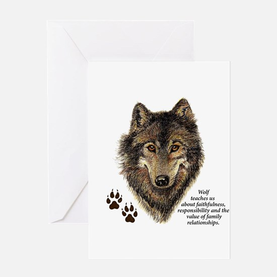 Wolf Totem Animal Guide Watercolor Greeting Cards