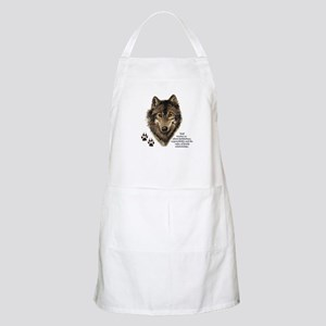 Wolf Totem Animal Guide Watercolor Nature Ar Apron