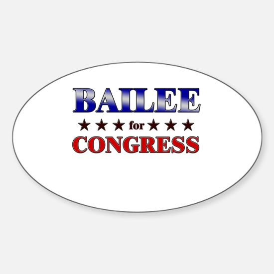 BAILEE for congress Oval Decal