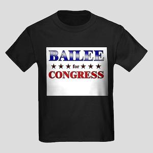 BAILEE for congress Kids Dark T-Shirt