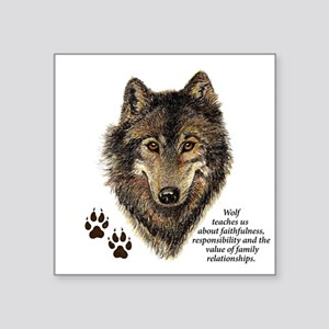 Wolf Totem Animal Guide Watercolor Nature Sticker