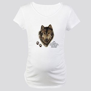 Wolf Totem Animal Guide Watercol Maternity T-Shirt