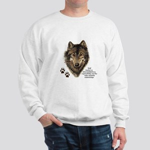 Wolf Totem Animal Guide Watercolor Natu Sweatshirt