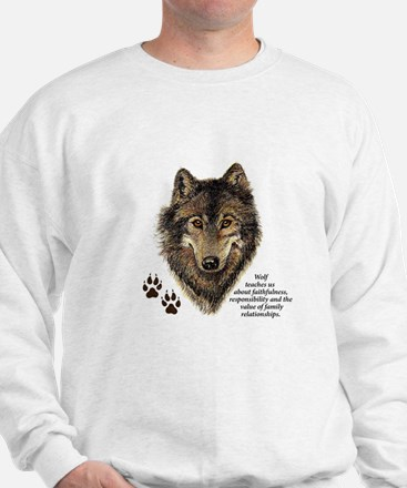 Wolf Totem Animal Guide Watercolor Natu Jumper