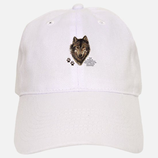Wolf Totem Animal Guide Watercolor Nature Art Cap