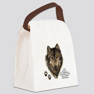 Wolf Totem Animal Guide Watercolo Canvas Lunch Bag
