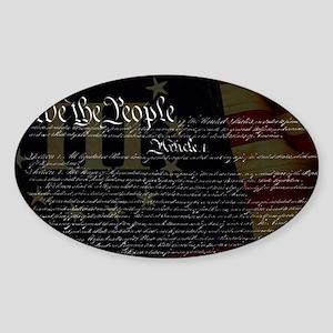 U.S. Outline - Constitution Sticker