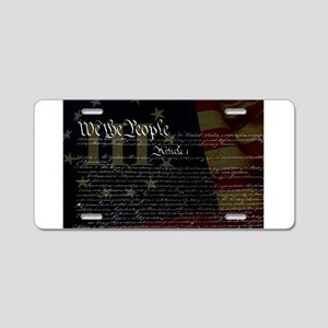 U.S. Outline - Constitution Aluminum License Plate
