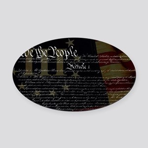 U.S. Outline - Constitution Oval Car Magnet