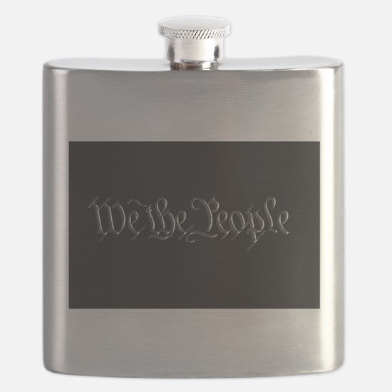 U.S. Outline - We the People Flask