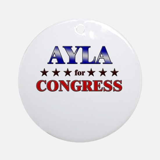 AYLA for congress Ornament (Round)