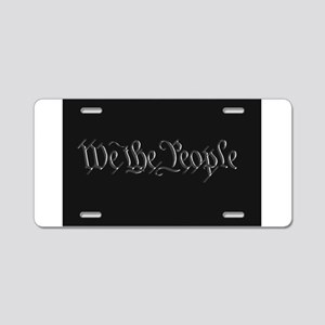 U.S. Outline - We the Peopl Aluminum License Plate