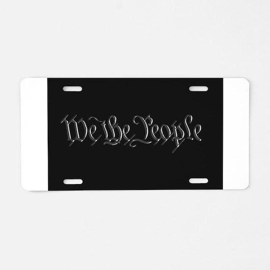 U.S. Outline - We the Peopl Aluminum License Plate