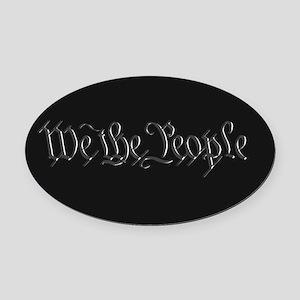 U.S. Outline - We the People Oval Car Magnet