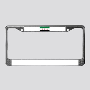 Free Syrian Republic Flag License Plate Frame