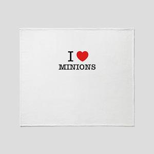 I Love MINIONS Throw Blanket