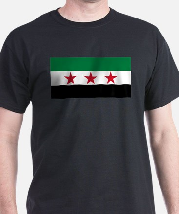 Free Syrian Republic Flag T-Shirt