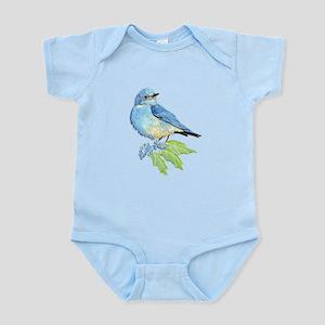 Watercolor Mountain Bluebird Bird natur Body Suit